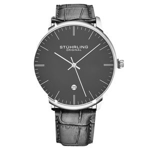 Stuhrling Original Mens Gray Quartz Dress Watch